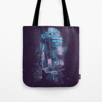 r2d2 Tote Bags featuring R2D2 by Sitchko