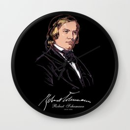 Robert Schumann-German Composer-Classical Music-Piano Wall Clock