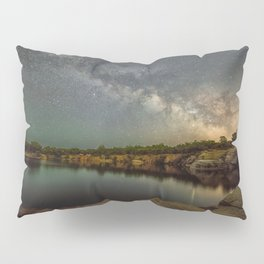 Milkyway at Halibut Point State Park quarry Pillow Sham