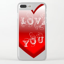 Heart Love Clear iPhone Case