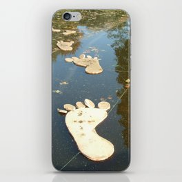 Foot on the water iPhone Skin