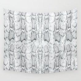 Black White Snake Skin Print Wall Tapestry