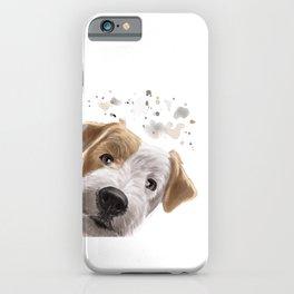 Curious Parson Russel Terrier Dog iPhone Case