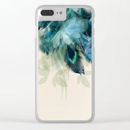 Beautiful Peacock Feathers Clear iPhone Case