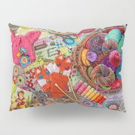 Vintage Yarn & Thread Pillow Sham