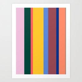 Mod Stripes Art Print