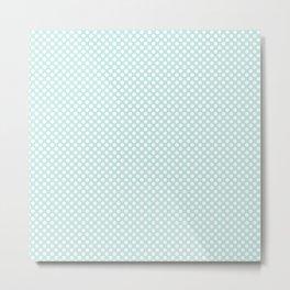 Soothing Sea and White Polka Dots Metal Print