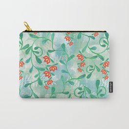 Floral pattern. 4 Carry-All Pouch