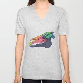 Colourful Horse Skull Unisex V-Neck