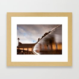 Flowing Water Abstract Framed Art Print