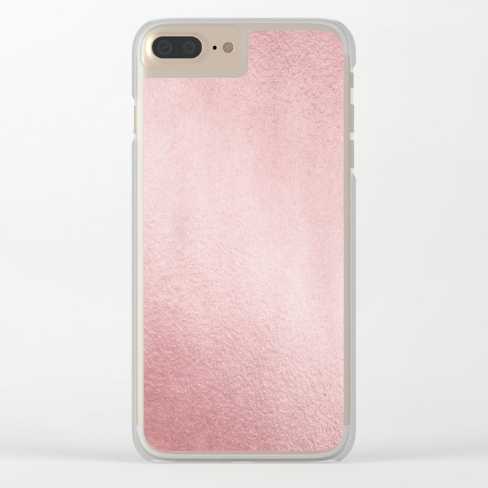 Simply Rose Gold Sunset Clear iPhone Case