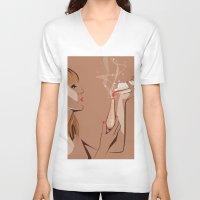 ursula V-neck T-shirts featuring Ursula by Elena Medero