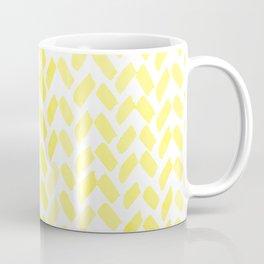 Cute watercolor knitting pattern - yellow lemon Coffee Mug
