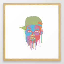 Will Smith Drip Framed Art Print