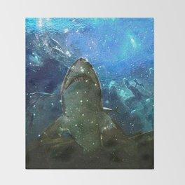 The Great White Marine Lava Lamp Throw Blanket