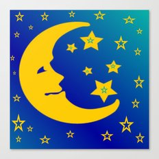 Mr. Moon Canvas Print