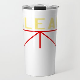 """A simple """"Clean Body, Planet, Conscience"""" T-shirt Design for Clean Pure Stainless Fresh People Travel Mug"""