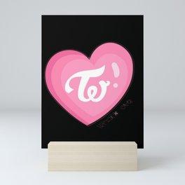 Twice what is love Mini Art Print