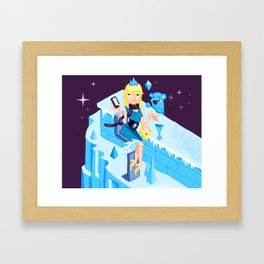 Ice Princess Framed Art Print