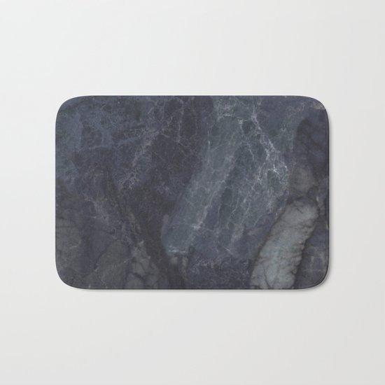Navy Blue Marble Bath Mat