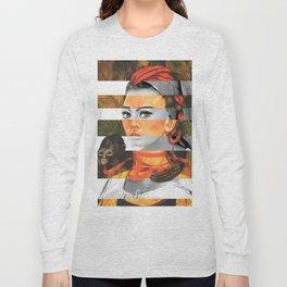 F.K.'s Self Portrait with Monkey & Sophia Loren Long Sleeve T-shirt