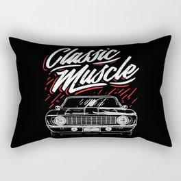 Vintage Cars Classic Muscle Car Motif Rectangular Pillow