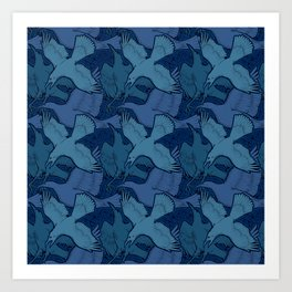 Crow Pattern Art Print