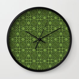 Greenery Geometric Floral Abstract Wall Clock