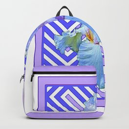DECO LILAC PURPLE PASTEL IRIS PATTERN Backpack