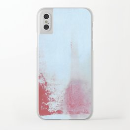 Red Regret Clear iPhone Case