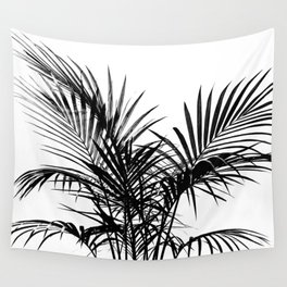 Little palm tree in black Wall Tapestry