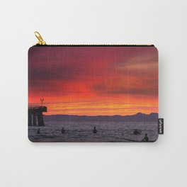 Surfers watching Sunset Carry-All Pouch