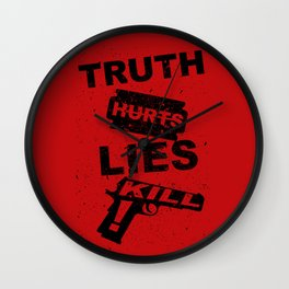 Truth Hurts - RED Wall Clock