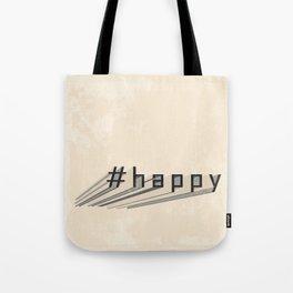 #happy - vintage style -  Past and present mixture - Brown & Beige Tote Bag