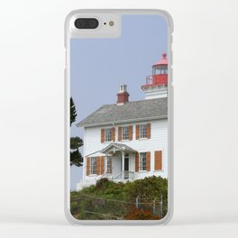 Historic Yaquina Bay Lighhouse Clear iPhone Case
