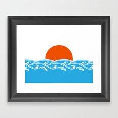 Japanese Tsunami  Framed Art Print