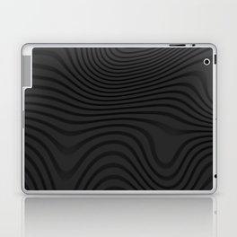 Organic Abstract 02 BLACK Laptop & iPad Skin