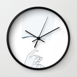 Cat In The Sack Lie Cheating Proverb Joke Gift Wall Clock