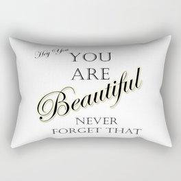 Hey Beautiful Rectangular Pillow