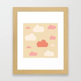 Cloud pink Framed Art Print