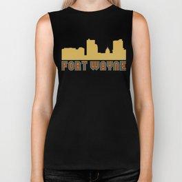 Vintage Style Fort Wayne Indiana Skyline Biker Tank