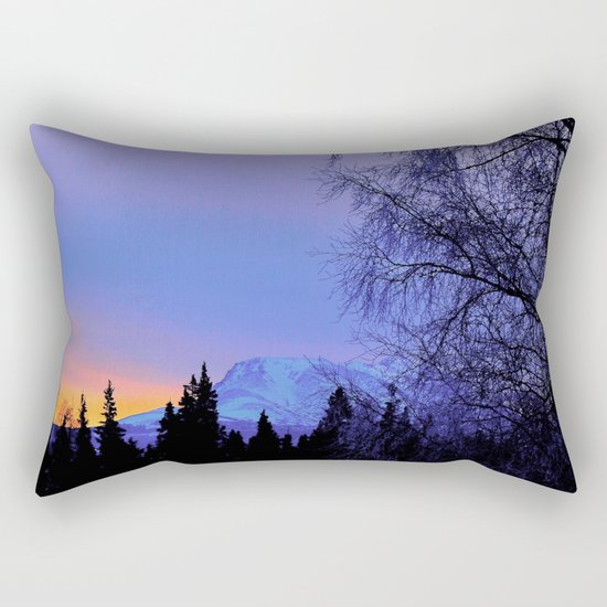 Chugach Mts Serenity Sunrise - I Rectangular Pillow