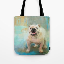 White English Bulldog Tote Bag