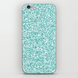 Tiny Spots - White and Verdigris iPhone Skin