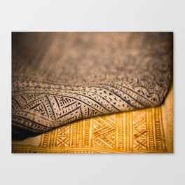 Magic Carpet Beautiful Embroidered East Asian Pattern Tapestry Canvas Print