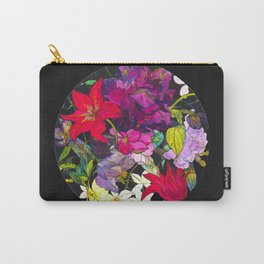 Black Parrot Tulips Carry-All Pouch