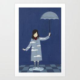 Raining Art Print