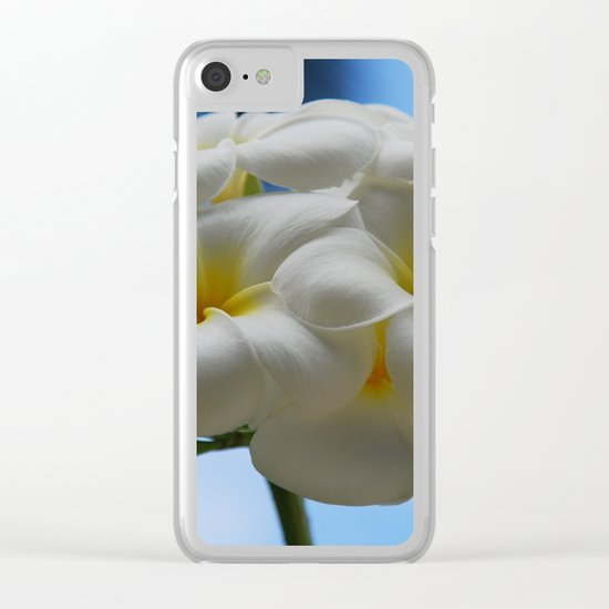 frangipani Clear iPhone Case