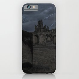 Whitby Abbey darkness iPhone Case