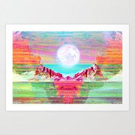 Moon's Cradle Art Print